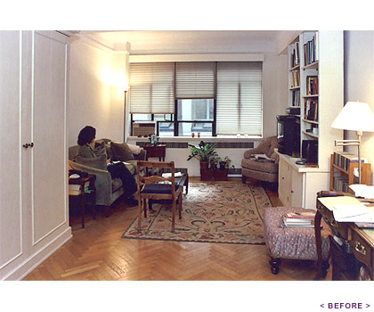NYC Studio Apartment - Living Room Before